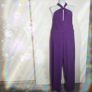 Pants - Purple  Jumpsuit by Hot Gal